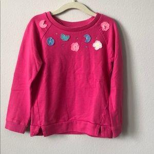 Carter's Hot Pink Flower Sweatshirt